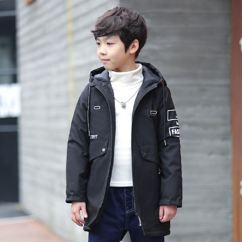 e2c60c9a2c56 Kids 4 14T Boys Jacket Coat Hooded Jackets For Children Outerwear ...