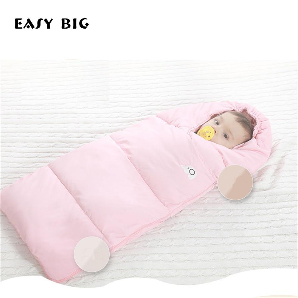 Gemakkelijk Grote Winter Down Katoenen Baby Slaapzak Winddicht Verdikking Warm 0-36 M Baby Voetenzak Bcs0026