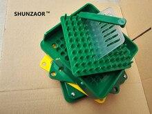 SHUNZAOR capsulator with tamping tool(0# Capsule)100 holes ABS material manual capsule fillers, machine Medical teaching tool