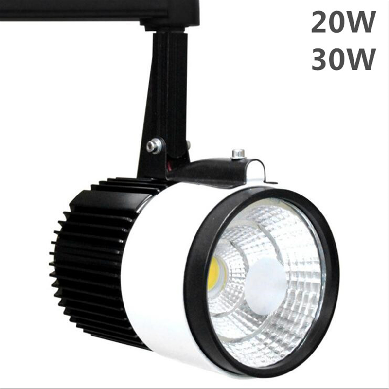 LED Track light 20w 30w Cob chip 3000K 4000K 6000K Rail light 110v 220v aluminum body led light for Cabinets clothing stores diy 20w 3000k 2100lm square cob led module dc 36 45v