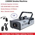 Super LED 1500W RGB 3 Farben Nebel Maschine 2.3L DMX512 Rauch Maschine Mit 6X3W LEDS Professionelle bühne Rauch Maschine Für Dj Lichter