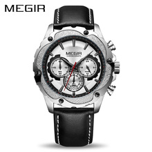 Megir Chronograph Sport Watch Men Relogio Masculino Top Brand Luxury Army Military Watches Clock Men Quartz Wrist Watch ML2070