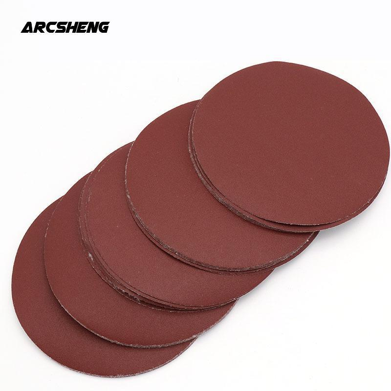 20pcs 7 Inch 180mm Round Sandpaper Disk Sand Sheets Grit 60-1200 Hook And Loop Sanding Disc For Sander Grits