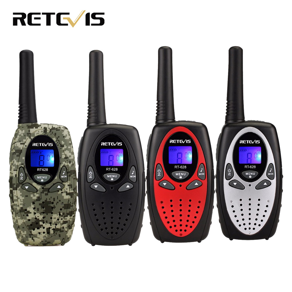 2pcs 4 color Mini Walkie Talkie Kids Radio RETEVIS RT628 0.5W UHF Frequency Portable Ham Radio Hf Transceiver Gift A1026B