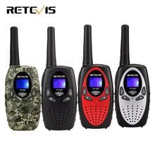 2pcs 4 color Mini Walkie Talkie Kids Radio RETEVIS RT628 0 5W UHF Frequency Portable Ham