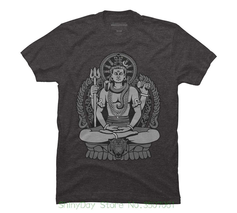Streetwear เสื้อผ้าพิมพ์ตลก Hip - tope Mans เสื้อยืด Tops Tees Lord Shiva Mens Graphic เสื้อ T