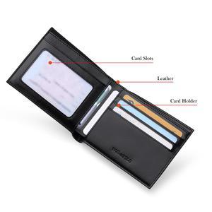 Image 3 - WilliamPOLO portefeuilles de marque de luxe pour hommes, 100% en cuir de vache court, à deux volets, Mini cuir véritable, porte cartes, fentes, petit format portable