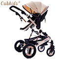 New high landscape baby stroller Can sit can lie down Folding four wheel baby summer bb trolley free shipping