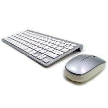 Ультра-тонкий высокое качество русская клавиатура Беспроводной клавиатура Мыши Combo 2.4 г Беспроводной 1200 Точек на дюйм Мыши для MAC Win XP /7/8/10 tv box