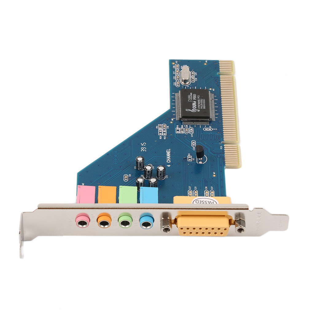 Easy Convenient to Use 4 Channel 5.1 15-pin Surround 3D PCI Sound Audio Card for PC Windows XP/Vista/7 ess 4 1 channel pci sound card red