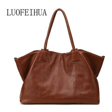 LUOFEIHUA  European and American leather handbags 2019 new fashion leather handbag Shoulder Messenger Bag Leisure Bags xiyuan brand women spring and summer new european and american style leather handbag ladies chain shoulder handbags big bag pink