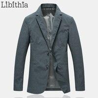 Для мужчин, Цвет хлопок пиджаки две кнопки пиджак пальто Для мужчин M 4XL шикарная одежда мужской темно синий серый Для мужчин swear A26