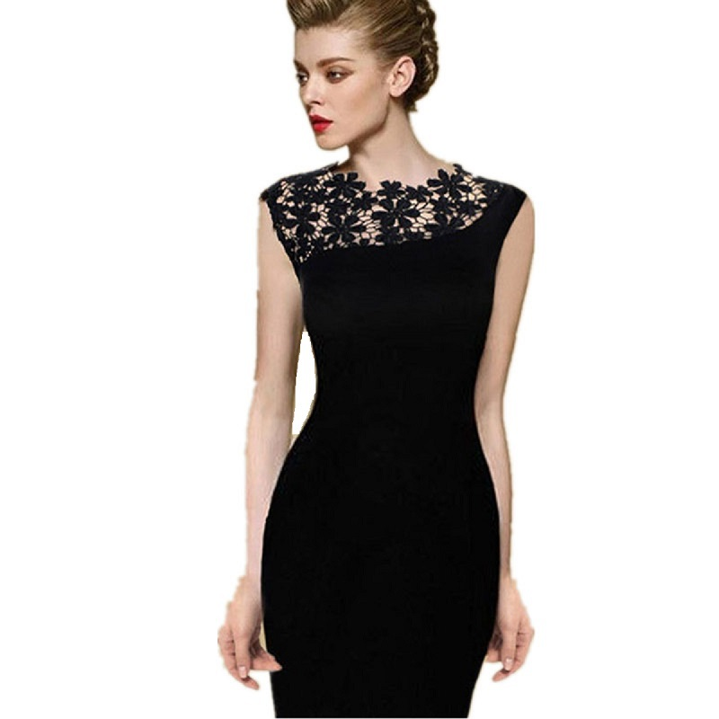 Compare Prices on Black Pencil Dress Plus Size- Online Shopping ...