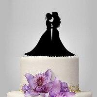 2017 Real Rushed Acrylic Lesbian Wedding Cake Topper/Wedding Stand/Wedding Decoration Wedding Cake Accessories Casamento