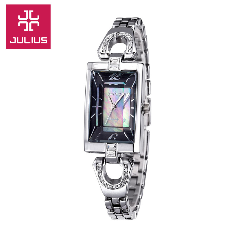 New Julius Lady Women's Watch Japan Quartz Fashion Hours Dress Shell Chain Lovely Business Girl Valentine Birthday Gift Box lady women s watch japan quartz hours best fashion dress bracelet leather elegant valentine girl birthday gift julius box 905