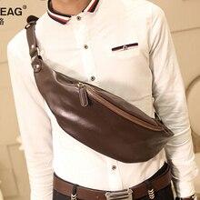Fashion leather men waist pack belt wallet motorcycle waist bag leg bag fanny pack chest bag men shoulder messenger WB00006