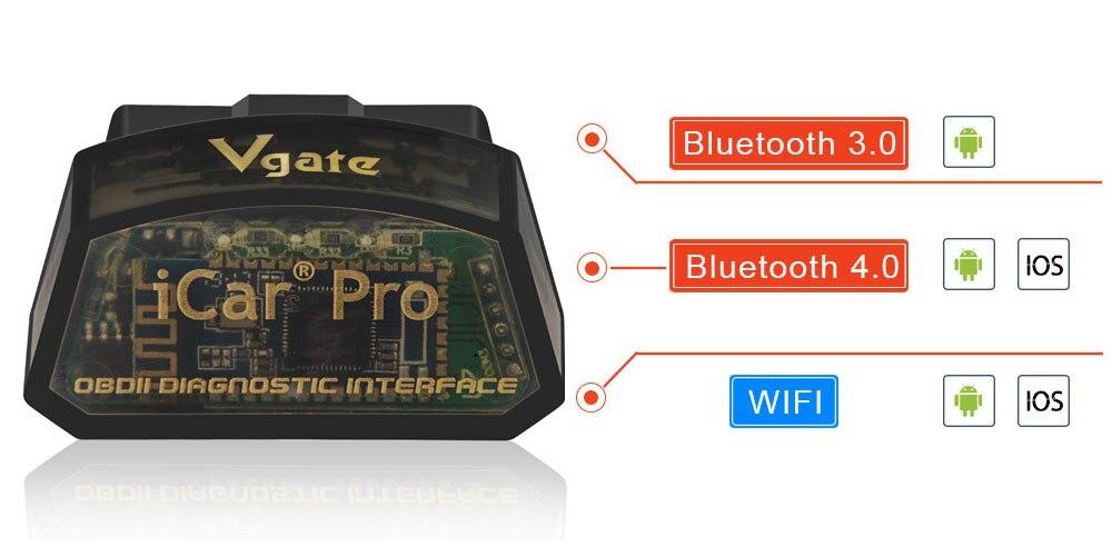 HTB1yarOXQCy2eVjSZPfq6zdgpXaq Vgate iCar Pro ELM 327 Bluetooth/WIFI OBD2 Scanner car diagnostics elm327 2.1 obd 2 obd2 Diagnostic Tool scan tool pro odb2 Hot