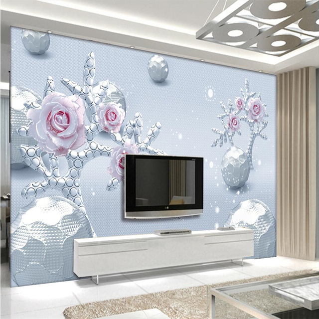 beibehang Large Custom Wallpaper Mural 3d Ball Abstract Tree Rose ...