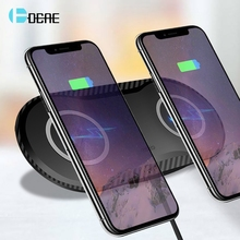 DCAE 2 in 1 Qi Wireless Charger For iPhone X XS XR 8 Airpods Dual 10W Fast Charging Pad for Samsung Note 9 S10 S9 S8 Galaxy Buds