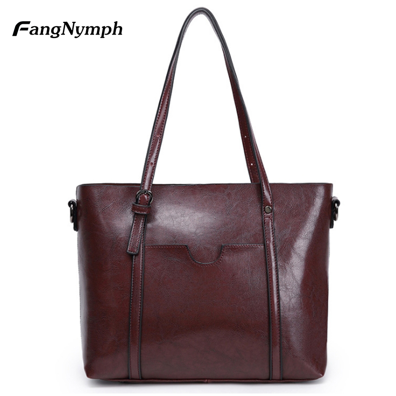 где купить FangNymph Large Female Tote Bag Big Leather Shoulder Handbags Women Famous Brands Hand Bags Crossbody Summer Bags for Women 2018 по лучшей цене