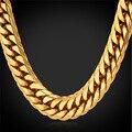 Американский стиль хип-хоп тяжелые холодных людей цепи 13 мм 28 '' 18 К печать позолоченные большой длинный коренастый ожерелье мужчины ювелирные изделия GN1150