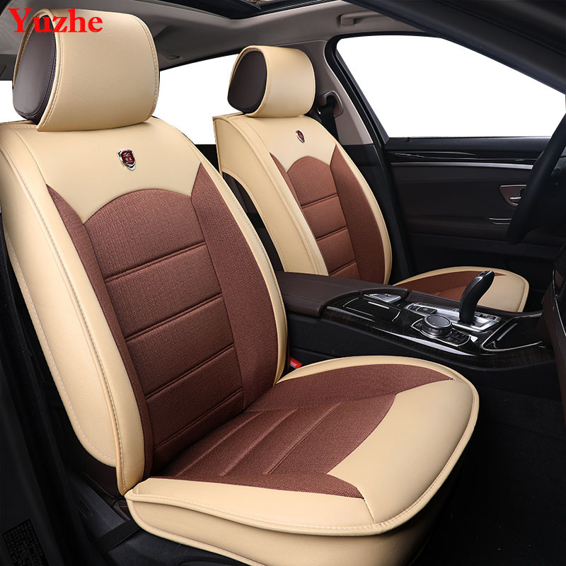 Yuzhe Auto automobiles Leather car seat cover For Renault megane 2 3 fluence scenic clio Captur kadjar car accessories styling kkysyelva universal leather car seat cover set for toyota skoda auto driver seat cushion interior accessories