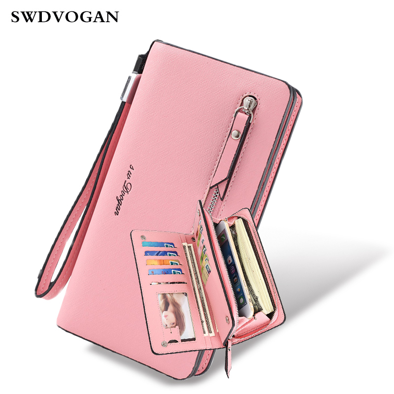 Long Women Purses For Xiaomi MI A1 Wallet Case PU Leather Coin Purse Phone Bag 11 Card Holders Female Wallet For Girls Ladies drinks women coin purse novel style pu leather cute cartoon coin case female mini wallet girls small purses card holders