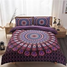 Комплект постельных принадлежностей 3Pcs Комплект постельных принадлежностей Magenta Покрывало для постельного белья Boho Duvet Обложка Noble Bed Linen Twin Queen On Sale jogo de cama