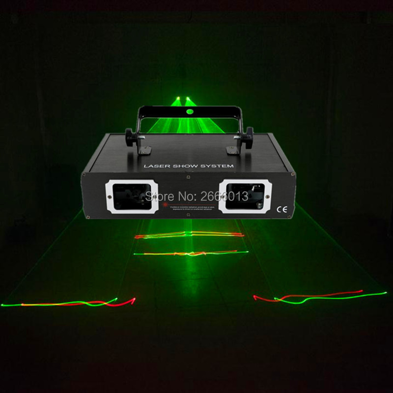 2 lens RG laser light DJ disco stage lighting equipment red green color laser dmx512 led beam lights for disco ktv nightclub bar hot sale new stage light 50mw green 200mw red laser 150mw yellow laser 100mw blue laser dj equipment for disco