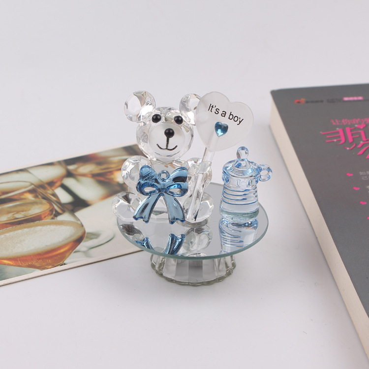 K5 Cristal Ours Mamelon Baptême Souvenirs de Douche De Bébé Parti Baptême Cadeau Cadeau Faveurs De Mariage et Cadeaux Pour Les Invités