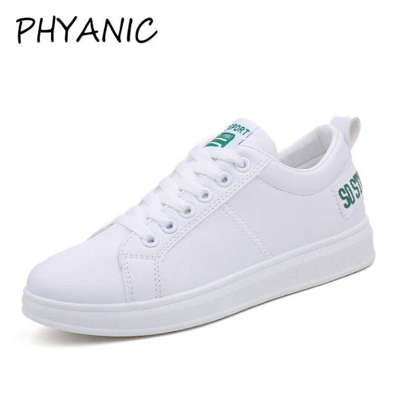 PHYANIC Female Shoes Sneakers Women Casual Shoes Sewing Fashion Lace Up Ladies White Shoes Woman Wholesale PHY3202