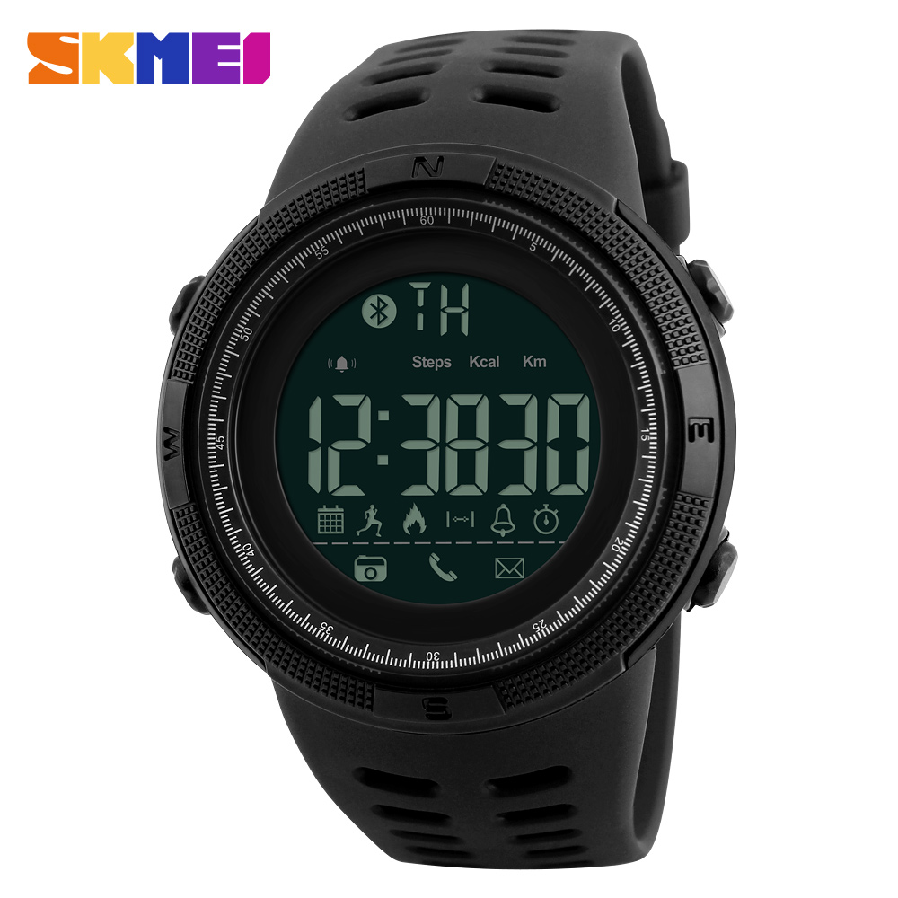 Meeste Smart Sport Vaata uut SKMEI brändi Bluetooth kalorite sammulugeja moe kellad meeste 50M veekindel digitaalne kell käekell