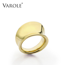 купить VAROLE Smooth Surface Rings Simple Design Gold Color Midi Ring Knuckle Rings For Women Jewelry Bagues Anillos Mujer Anel дешево