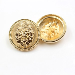 10pcs/lot Lion head metal button Gold for clothing sweater coat decoration shirt buttons accessories DIY JS-0239(China)