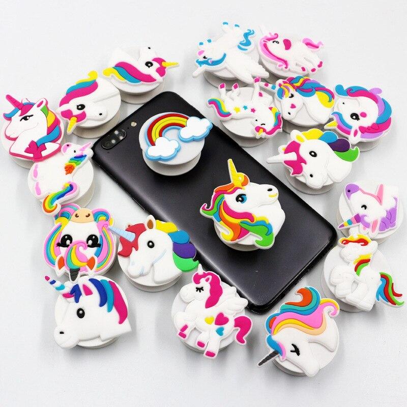 Резиновая подставка для сотового телефона в виде единорога/Фламинго/русалки
