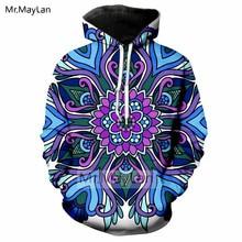 Hipster 3D Print Mandala Hoodie Men/women Fashion Streetwear Tops Symetrical Art Sublimation Trippy Jackets Boys Modis 5XL