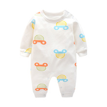 Newborn Baby Boys Girls Clothes During Spring And Autumn, Children Pure Cotton Long Sleeved Conjoined Clothes