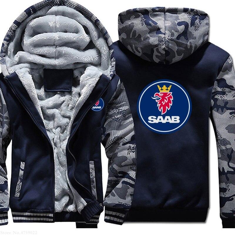 Plus Velvet Thicken Clothes Men Autumn Winter Scania SAAB Sweatshirt Hoodies Coat Men Warm Hoodie Fleece Jacket Outerwear