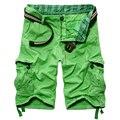 Мужская летом светлый хлопок нескольких карман грузовые шорты До Колен мужской Конфеты цветов Досуг пляжные шорты
