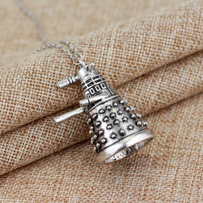 MQCHUN série TV bijoux docteur qui collier docteur Strange Dalek Robot pendentif collier pour femmes hommes ras du cou cadeau accessoires