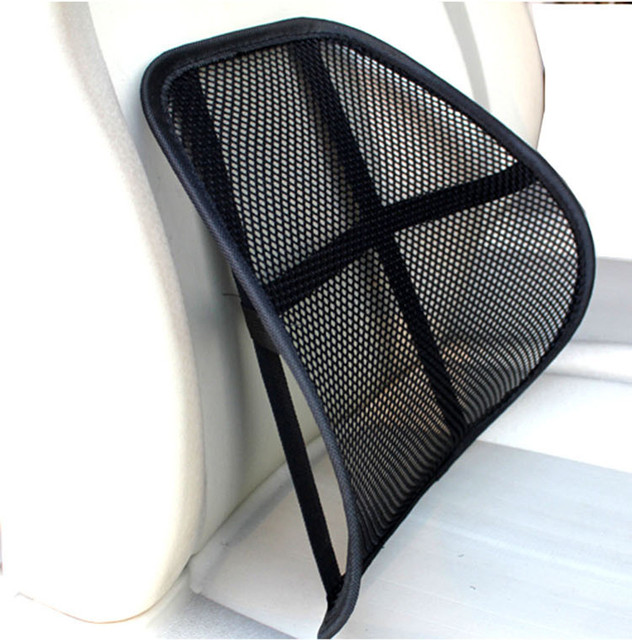 Auto Cool Breathable Mesh Support Lumbar Cushion Seat Back Muscle Car Home Office