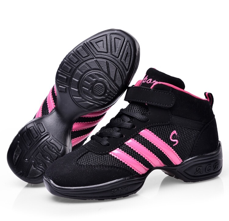 Kid Child Dance Shoe  Bloch Style Heel Sneaker for Jazz Hip Hop Gymnastics