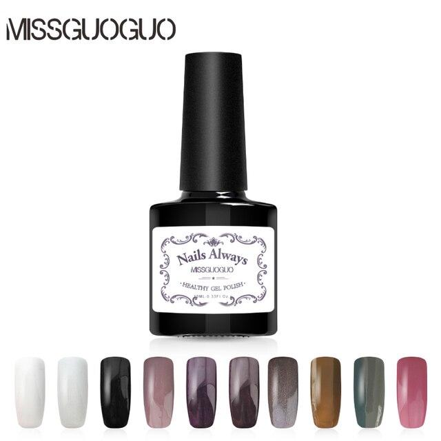 MISSGUOGUO 10ml Classic Colors UV Nail Gel Polish Soak off Long ...