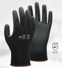 120 pairs 13 Guage Black PU ESD Safety Glove PU Anti Static Work Glove