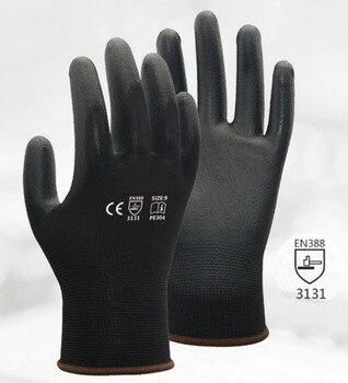 10 pairs Black PU ESD Safety Glove PU Anti Static Work Glove мотокостюм pu
