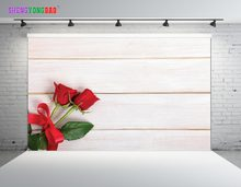 SHENGYONGBAO Art Cloth Custom Photography Backdrops Photo Studio Props Wood Planks and flower theme Photography Background SZ-24(China)