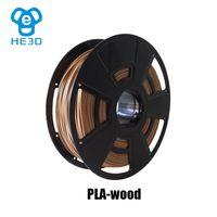 HE3D 3D printing consumables material 1.75mm platic PlA Wood filament for 3D printer 3D pen