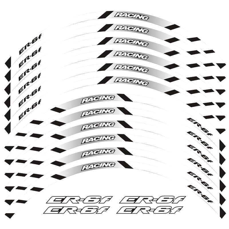 Высококачественные мотоциклетные накладки на переднее и заднее колесо, наружные обода в полоску, светоотражающие наклейки для Kawasaki ER-6F ER-6F