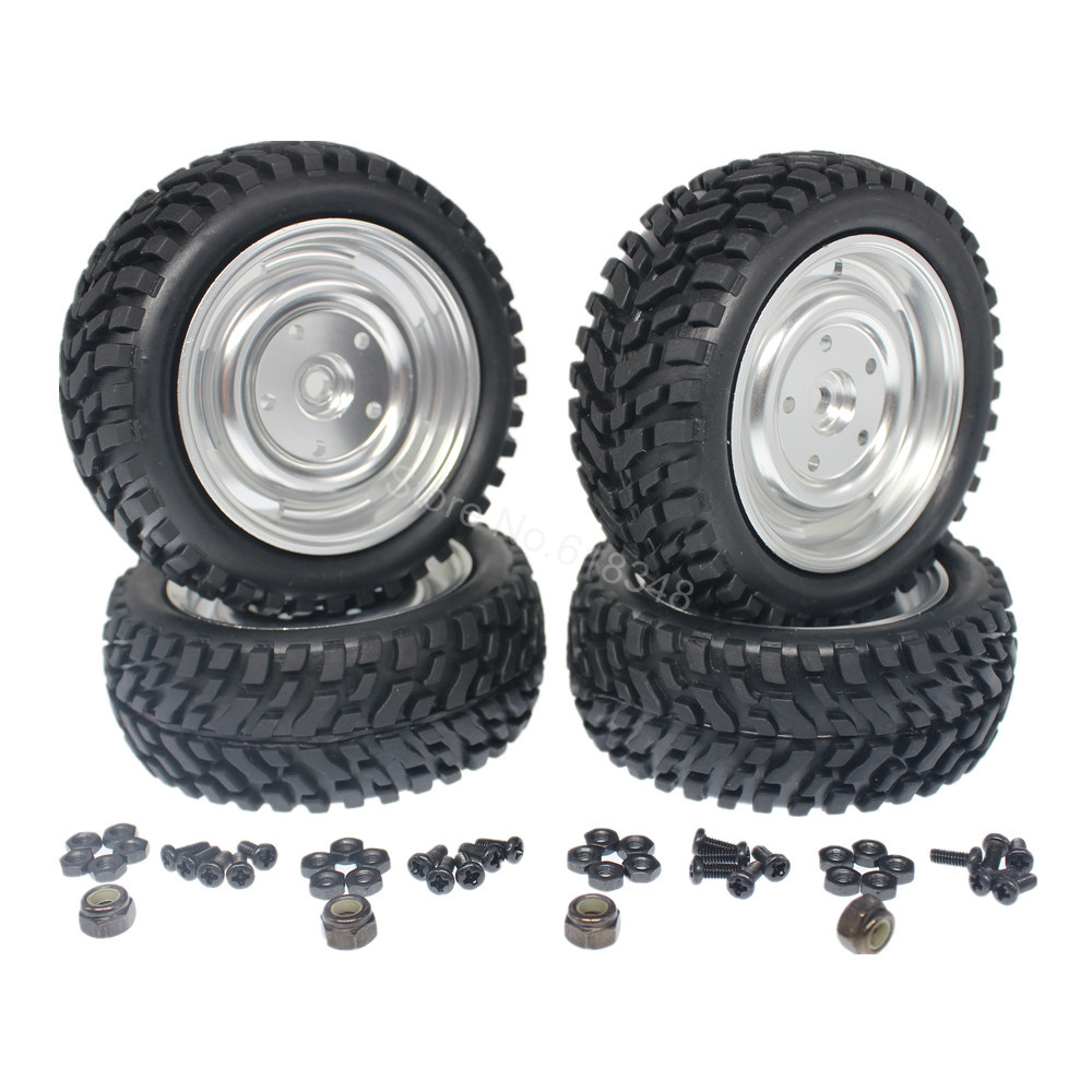 4Pcs 2.99 inch 76mm Tires & Aluminum Wheel Rims foam Inserts 12mm Hex Drive Hub For 1/10 Scale RC Rally Racing Car Tyres rc car sponge tires and wheel 12mm hex foam tires for 1 10 scale on road racing car model toys accessory