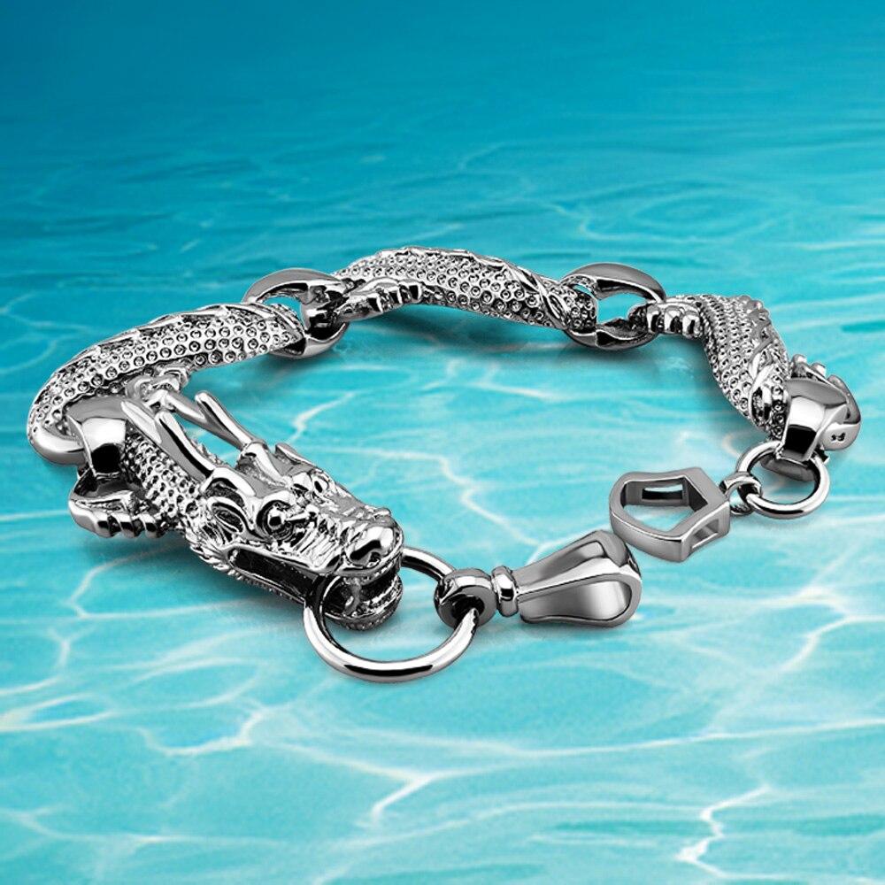 Nový přírůstek!!! etnický vítr v pohodě dračí kouzlo pánský náramek, 925 thajský stříbrný dračí náramek pro pánské šperky doplňky